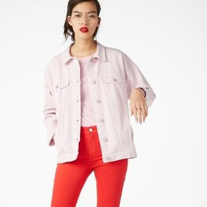 ASOS Monki Dusty Pink Boyfriend Denim Jacket